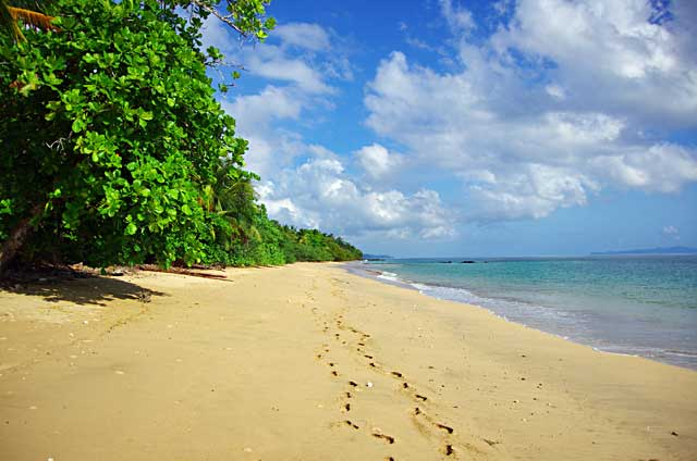 Beach on Coiba Island