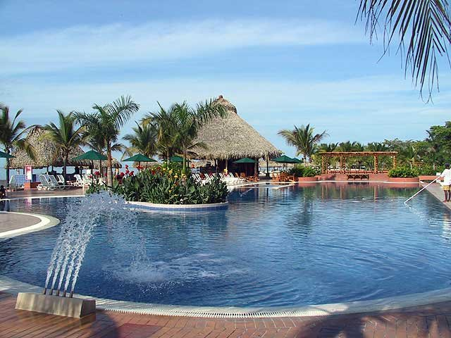 Swimming pool at the Decameron Resort Playa Blanca