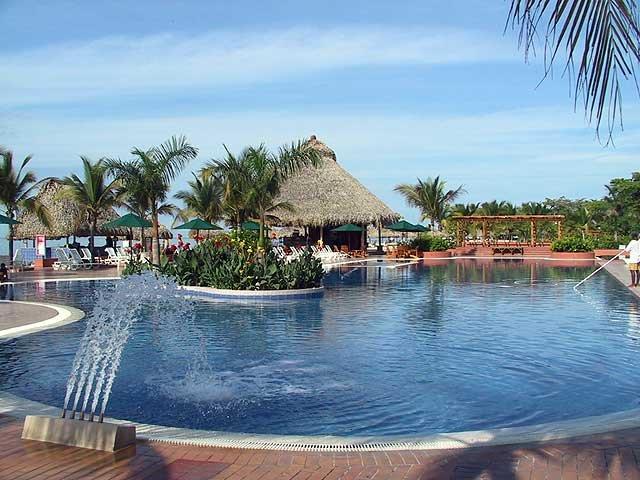Swimming pool at the Decameron Resort Playa Blanca